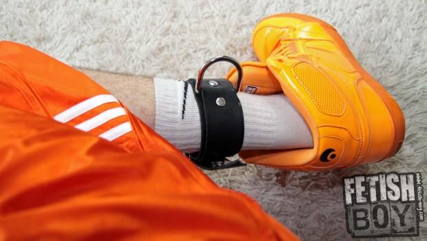 Orange_Sneaks_White_Socks_Feet_and_Rubber_Foot_Restraints-022